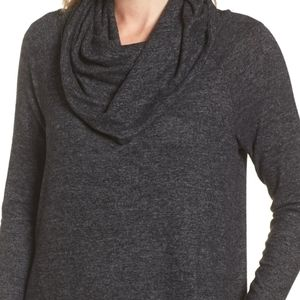 Dark Gray Sweater w/Cowl Neck